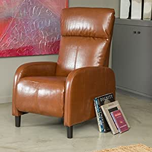 Amazon Com Trenton Hazelnut Brown Leather Recliner