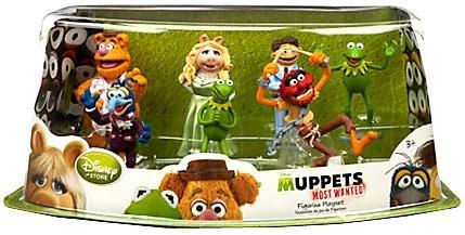 Disney Muppets Most Wanted Movie Exclusive 7-Piece PVC Figurine Playset  [Kermit, Miss Piggy, Fozzie, Gonzo, Animal, Walter & Constantine]