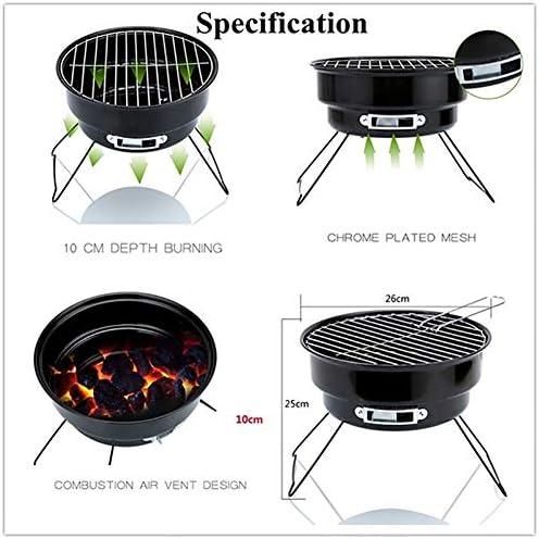 LXVY Pliable Fire Pit Barbecue au Charbon pour Le Festival de Pique-Nique Camping Jardin Party