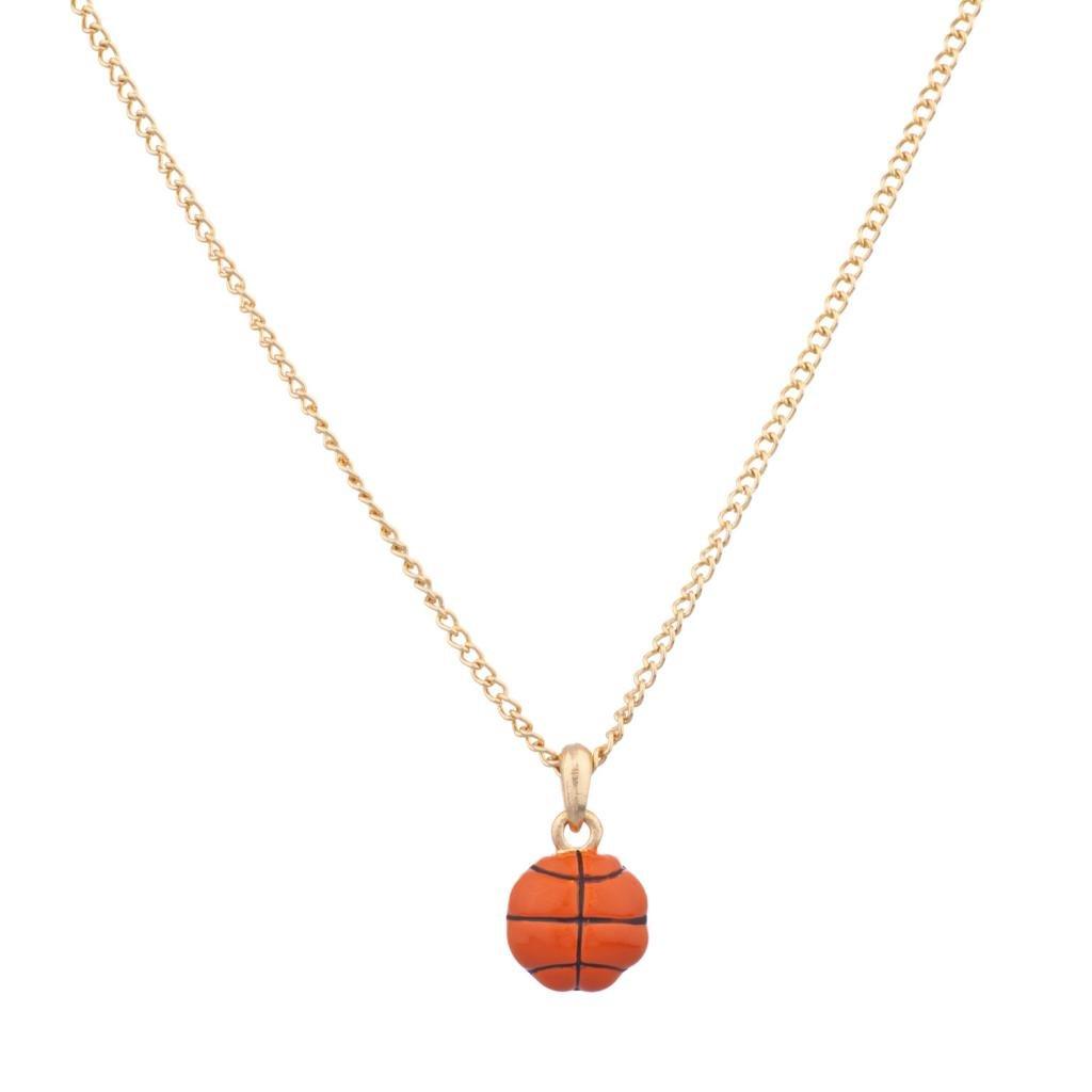 LUX accesorios baloncesto deporte naranja bola colgante collar ...
