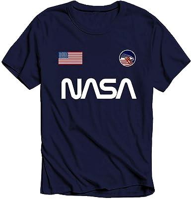 Nasa - Bandera Logo - Oficial Hombres Camiseta: Amazon.es: Ropa y accesorios