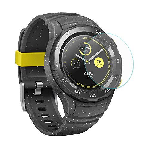 Muicatte Hat - Prince Arc Edge Smart Watch Tempered Glass Protector Film for HUAWEI Watch 2 2PCS