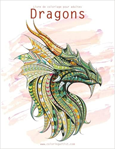 Amazon Com Livre De Coloriage Pour Adultes Dragons 1 2