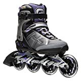 Rollerblade Macroblade 84W Alu 2016 Fitness/Workout Skate, Black/Purple, US Size 8