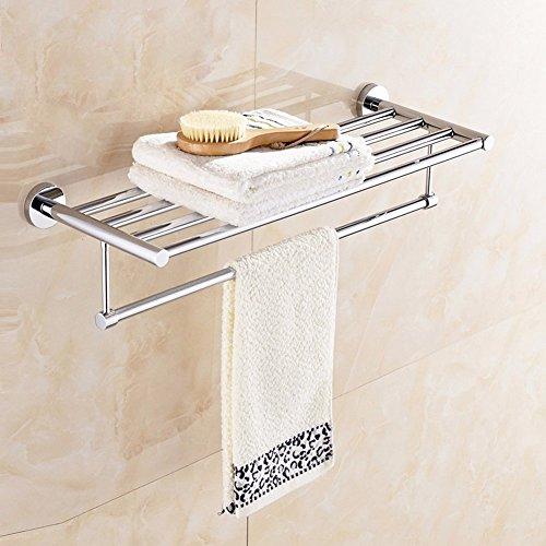 KHSKX Stainless steel Towel rack bathroom shelf hanging thickened bathroom towel racks towel bars