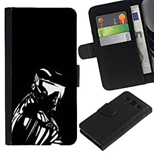 "SAMSUNG Galaxy S3 III / i9300 / i747 , la tarjeta de Crédito Slots PU Funda de cuero Monedero caso cubierta de piel ("" Robot Ai Futurism Art Man Exosceleton Machine"")"