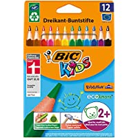 BIC Kids Evolution Triangular Colouring Pencils - Assorted Colours, Pack of 12