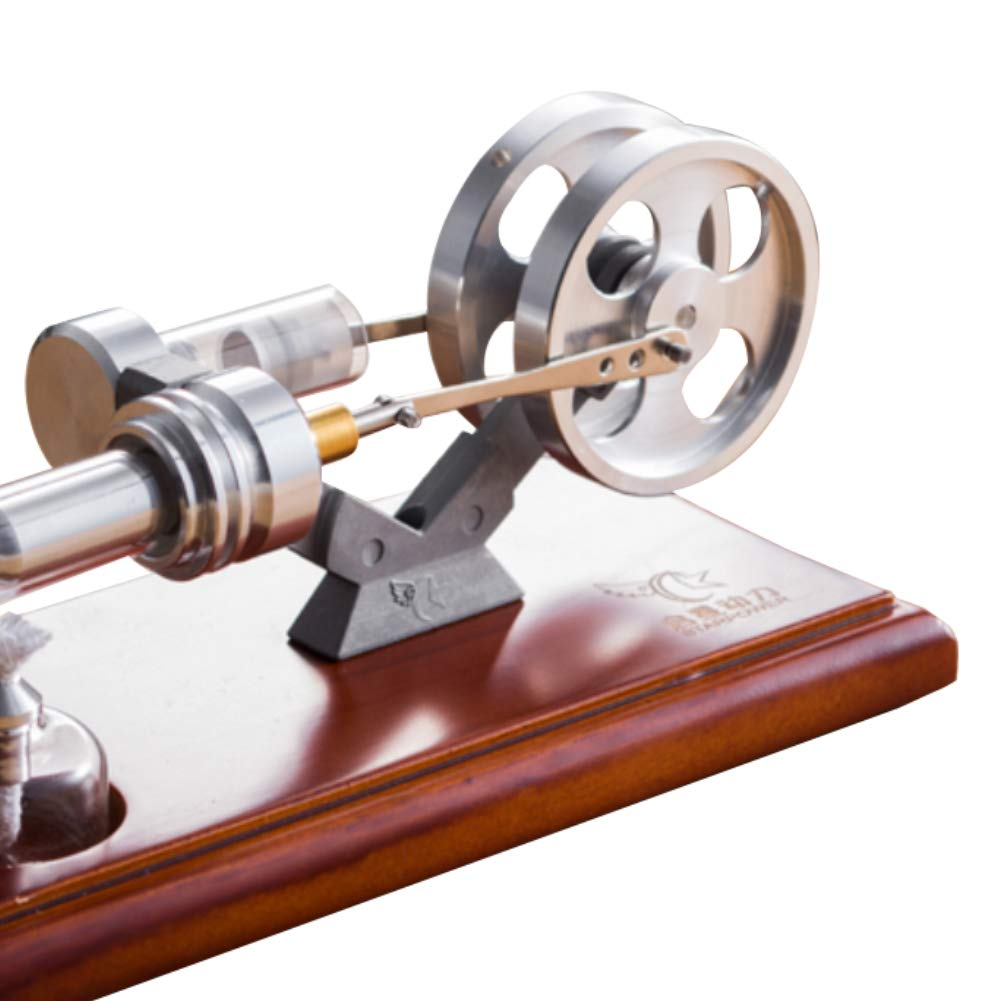 At27clekca Hot Air Stirling Engine Motor Model Stainless Steel Physical Science Kids Educational Toy Electricity Generator by At27clekca (Image #2)