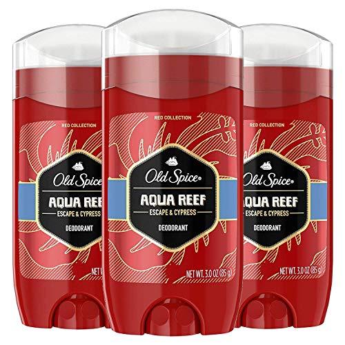 Old Spice Aluminum Free Deodorant for Men, Aqua Reef Scent, 3 Oz (Pack of 3)