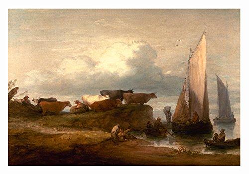 A Coastal Landscape Poster, 1782 by Thomas Gainsborough