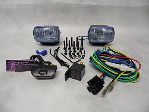 Optilux 1472 Optilux Xenon Halogen Fog Lights Kit Universal Rectangular White