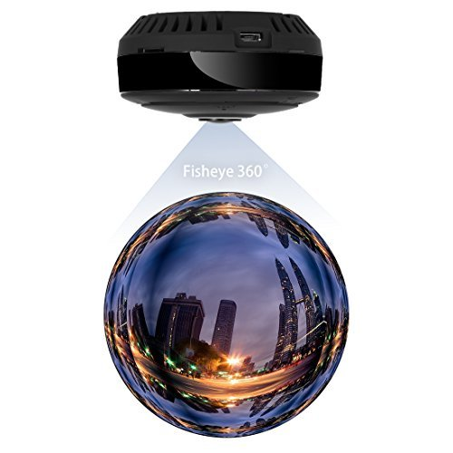 FREDI 960P WiFi IP Security Camera Wide Angle 180°-360° Mini Portable Indoor Hidden Camera with IR Night Vision /2-way Audio/ Motion Detection Loop recording