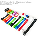 Grifiti Band Joes 2, 4, 6, 9, 12 Inch Assorted Standard 20 Pack Magic Tricks, Books, Cameras, Art, Cooking, Wrapping, Exercise, Bag Wraps, Dungies, Silicone Rubber