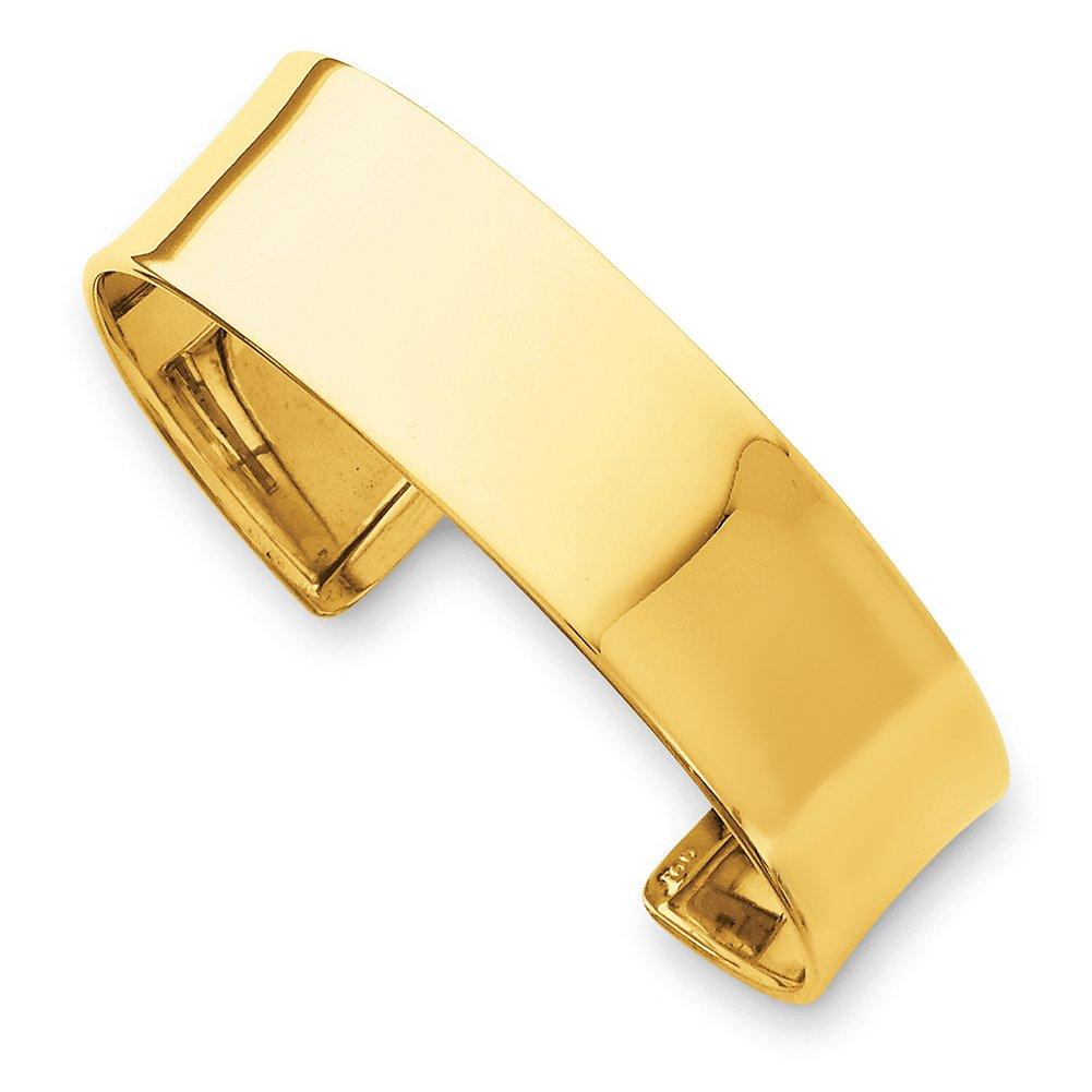 14k Yellow Gold 19mm Polished Bangle DB560