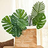 60 Pieces 4 Kinds Artificial Palm Leaves with