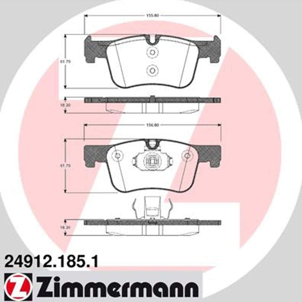 ZIMMERMANN 24912.185.1/Serie Bremsbel/äge inklusive Platte d/ämpfend vorne