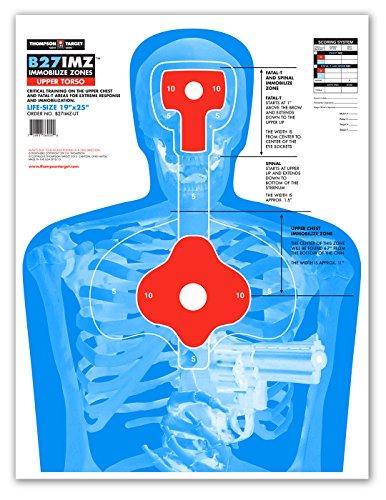 B27-IMZ Human Silhouette Paper Shooting Targets (19