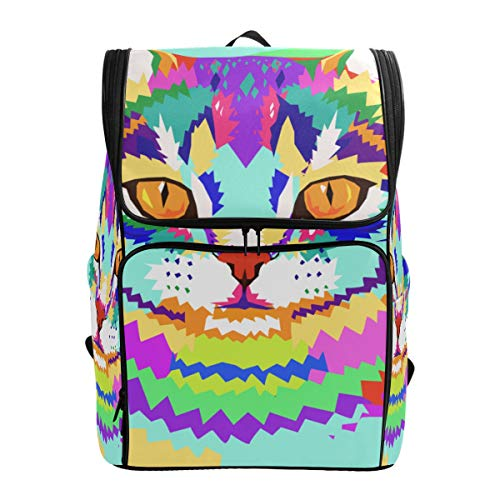 YCHY Backpack Vector Geometric Portrait Cat Lightweight Travel Bag Hiking Knapsack College Student School Bookbag Travel Daypack for men women]()