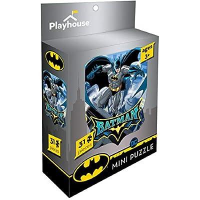 Playhouse DC Comics Batman 31-Piece Die-Cut Shaped Mini Puzzle for Kids: Toys & Games