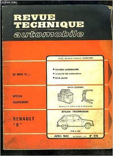 Téléchargements manuels gratuits pdf revue technique automobile n° 276/ renault 6 PDB