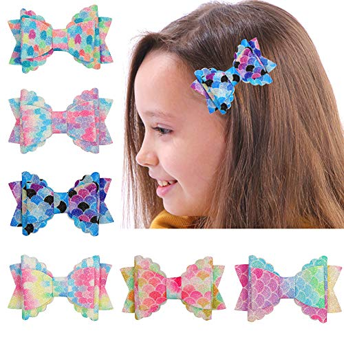 (Hair Clips Butterfly Bows Alligator Bowknot Barrette Glitter Hair Pins Accessoriesv for Baby Girls)