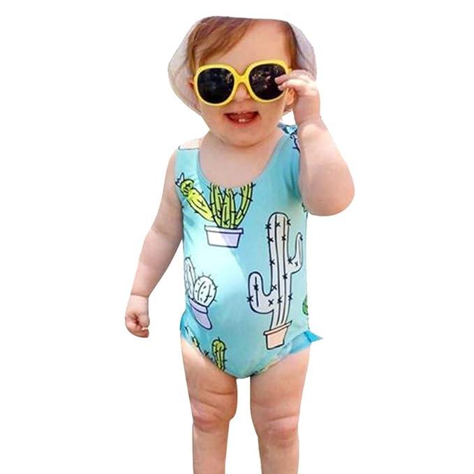 Amazon.com: YOMXL - Bañador unisex para bebé, niñas y niños ...