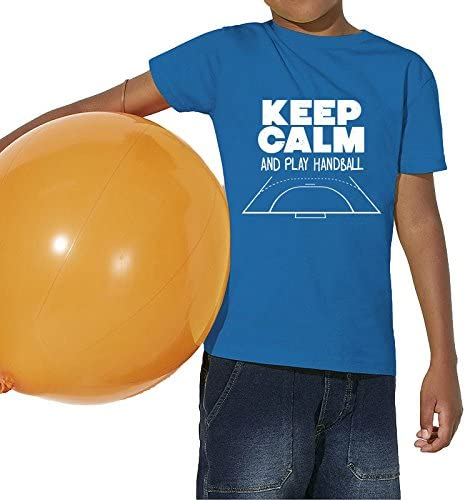 TALLA 12/14 ans EU. Sport is Good T-Shirt Junior Keep Calm & Play Handball