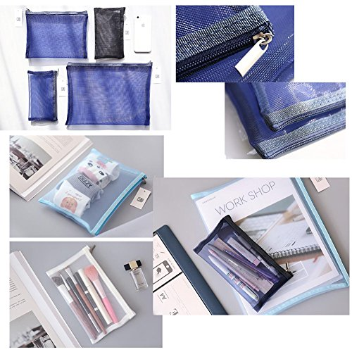 Cute File Bag Stationery Bag Pouch A4 File Envelope for Office/School Supplies, Black by Kylin Express (Image #1)