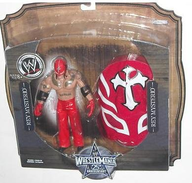 WWE Wrestlemania 25th Anniversary Rey Mysterio Figure with Red and White ()