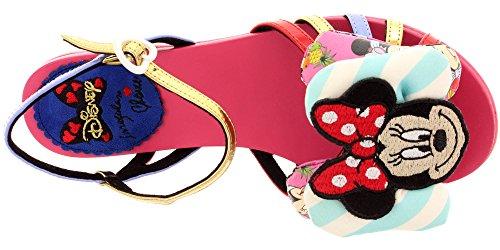 Irregular Choice - Sandalias de vestir de Piel para mujer Red-Gold