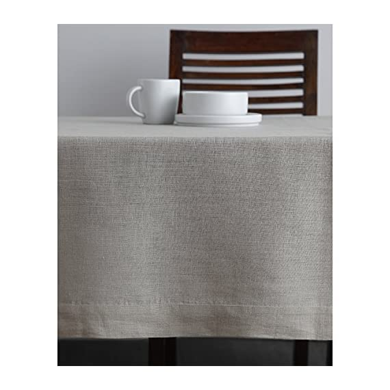 Solino Home 100% Pure Linen Tablecloth - 60 x 144 Inch Natural, Natural Fabric, European Flax - Athena Rectangular Tablecloth for Indoor and Outdoor use - Handcrafted by skilled Artisans from 100% European Flax Size - 60 x 144 Inch Easy Care - Machine Washable, Low Iron as Needed - tablecloths, kitchen-dining-room-table-linens, kitchen-dining-room - 51SpOTvmetL. SS570  -
