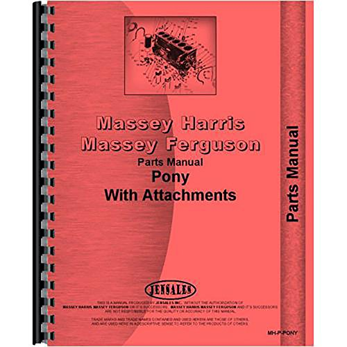 Massey Harris Pony Tractor Parts - New Massey Harris Pony Tractor Parts Manual