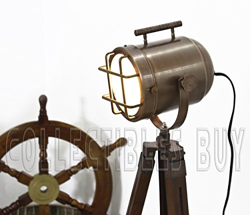Vintage-Copper-finish-antique-Marine-Tripod-lamp-portable-office-floor-lamps-Nautical-Gift-Items