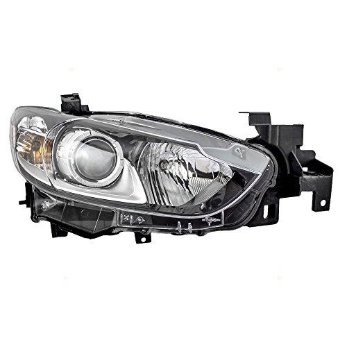 Passengers Halogen Combination Headlight Headlamp Replacement for 14-17 Mazda 6 Mazda6 GMP2510K0 -