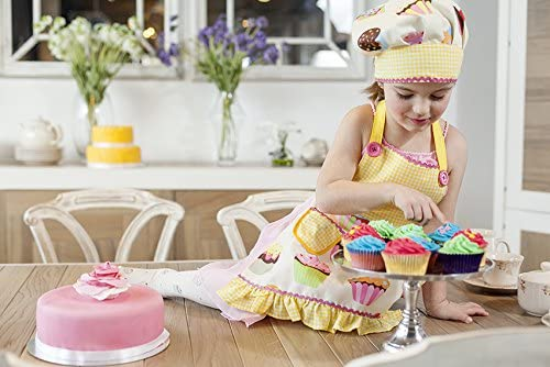 VIGAR Delantal 2 Piezas Lulu Housewife Girl Amarillo//Blanco