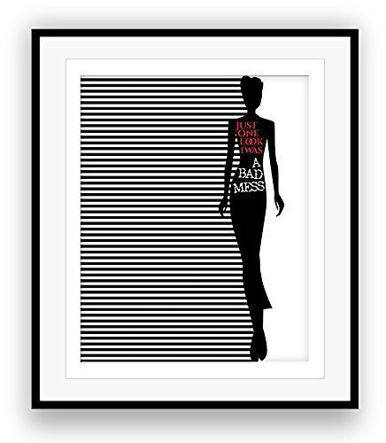 Amazon Song Lyrics Art Print Poster Long Cool Woman In A