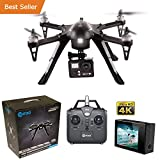 HOLIDAY SPECIAL! Contixo F17+ RC Quadcopter Photography Drone 4K Ultra HD Camera 16MP, Brushless Motors, 1 High Capacity Battery, Supports GoPro Hero Cameras - Best Gift For Christmas