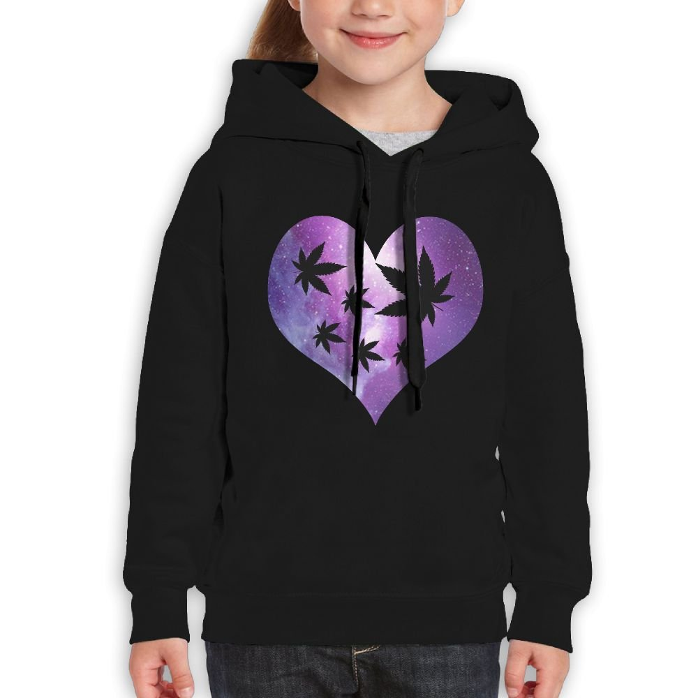 Heart-Shaped Weeds Love Galaxy Girls Boys Teens Cotton Long Sleeve Cute Sweatshirt Hoodie Unisex