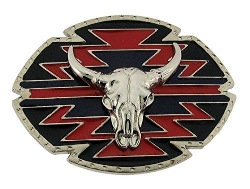 Belt Skull Accessories Buckles (Sw Style Buffalo Skull Belt Buckle Buckles Nice Colors)
