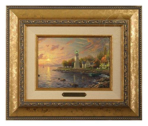 Thomas Kinkade Serenity Cove Brushwork (Gold Frame)
