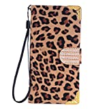 Vovotrade(TM)Diamond Leopard Wallet Flip Leather Case for Samsung Galaxy S6 Edge (Gold)