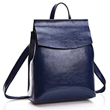 Women's Solid Leather Backpack Mid Size