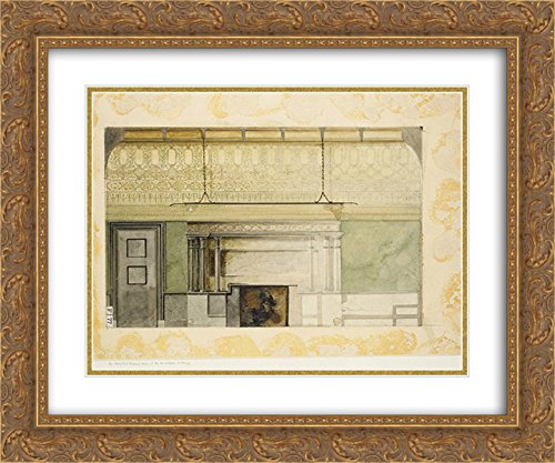 Louis Comfort Tiffany 2x Matted 24x20 Gold Ornate Framed Art Print 'Design for Henry Field Memorial Gallery at the Art Institute of Chicago - At Galleria Louis