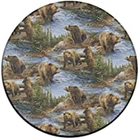 ART TANG Area Rug Carpet Non-slip Round Floor Mat Home Decor Rug Pads