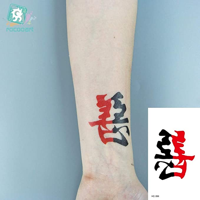 HXMAN 7 Unids Inglés Palabras Negro Tatuaje Chino Letras Falsas ...