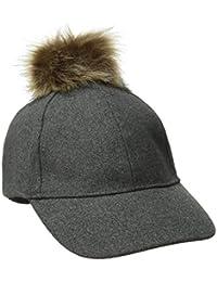 Women's Winter Cap with Faux-Fur Pom