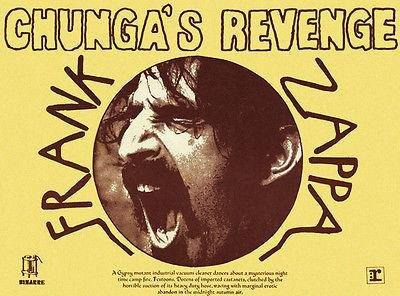 - Frank Zappa - Chunga's Revenge - 1970 - Album Release Promo Poster