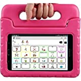 All-in-1 AAC Symbols-Based Speech Tablet (Communication aid) 7 inch Galaxy Android Tablet, TalkTablet Speech app, Case (Choose from 7 Colors), TOLL-Free Technical Support (Pink)