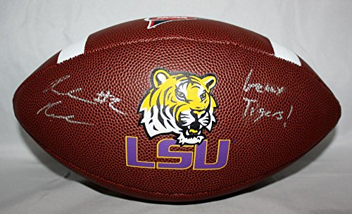 Rueben Randle Autographed LSU Brown Football W/ Geux Tigers- JSA W Auth