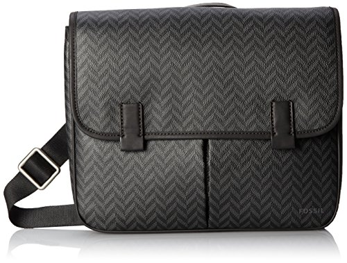 Price comparison product image Fossil Men's Mercer PVC EW City Bag, Charcoal, One Size